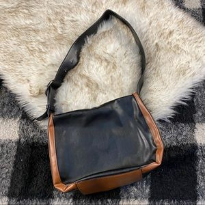 French Connection began two tone faux leather bag